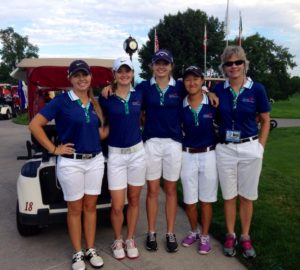 Sierra Kersten (2nd from left) Sarah Rhee (2nd from right) as 2014 GJAC Team Members
